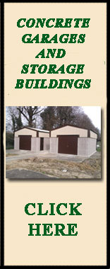 Concrete garages / storage buildings