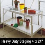 Elite 4ft x 24in wide Heavy Duty Aluminium Staging - Green