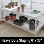 Elite 6ft x 30in wide Heavy Duty Aluminium Staging - Green