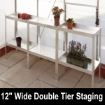 Elite 7ft8in x 12in wide Double Tier Aluminium Staging