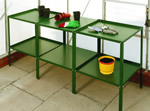 Elite 7ft8in x 18in wide Double Tier Aluminium Staging - Green