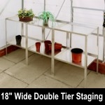 Elite 9ft6in x 18in wide Double Tier Aluminium Staging